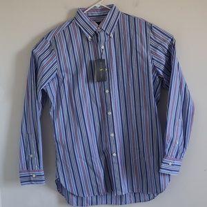 Polo Ralph Lauren Classic Fit Striped Shirt Blue